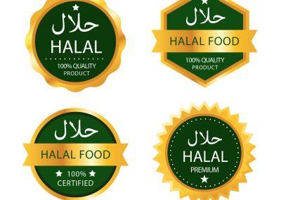 Halal certified badge