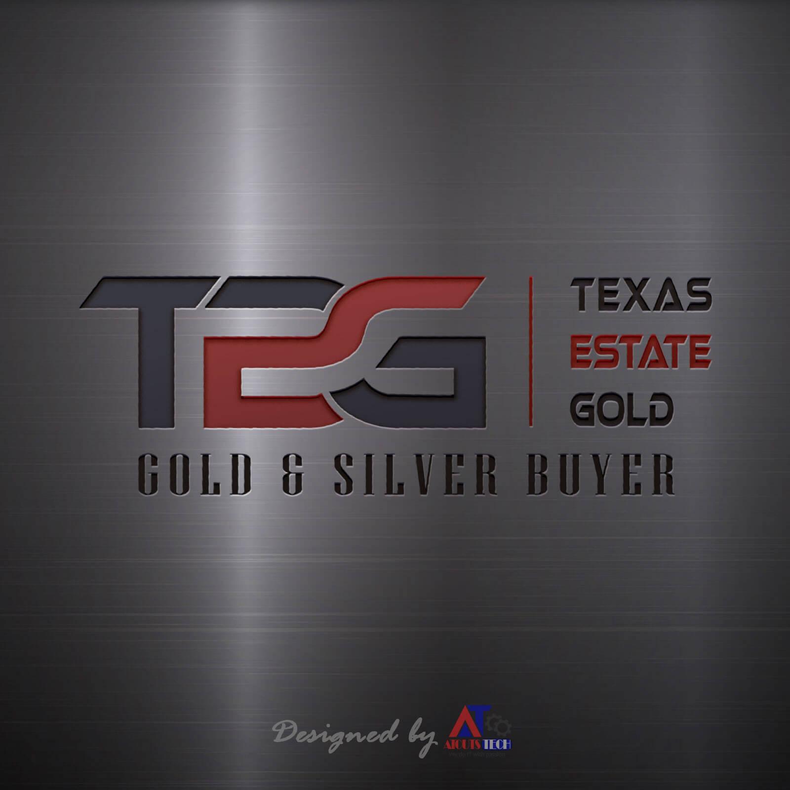 Texas Estate Gold metal logo