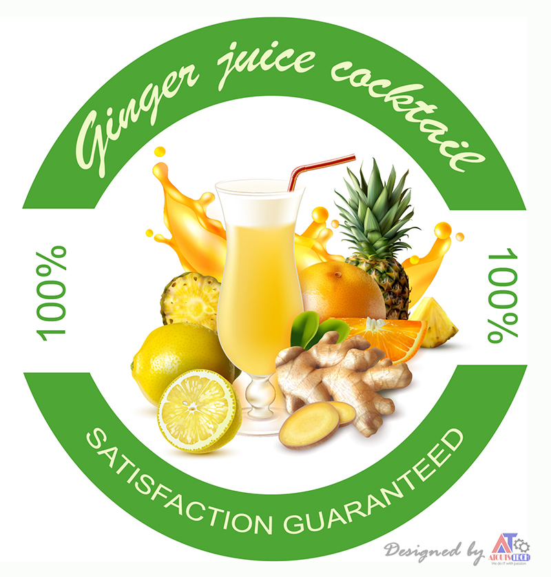 Ginger cocktail juice
